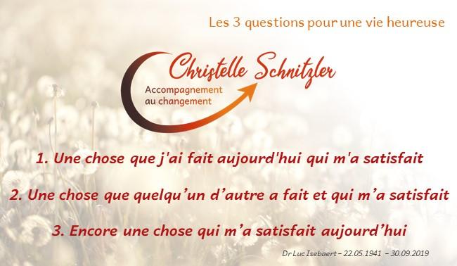 Les 3 questions de Luc Isebaert - Christelle Schnitzler Accompagnement au changement