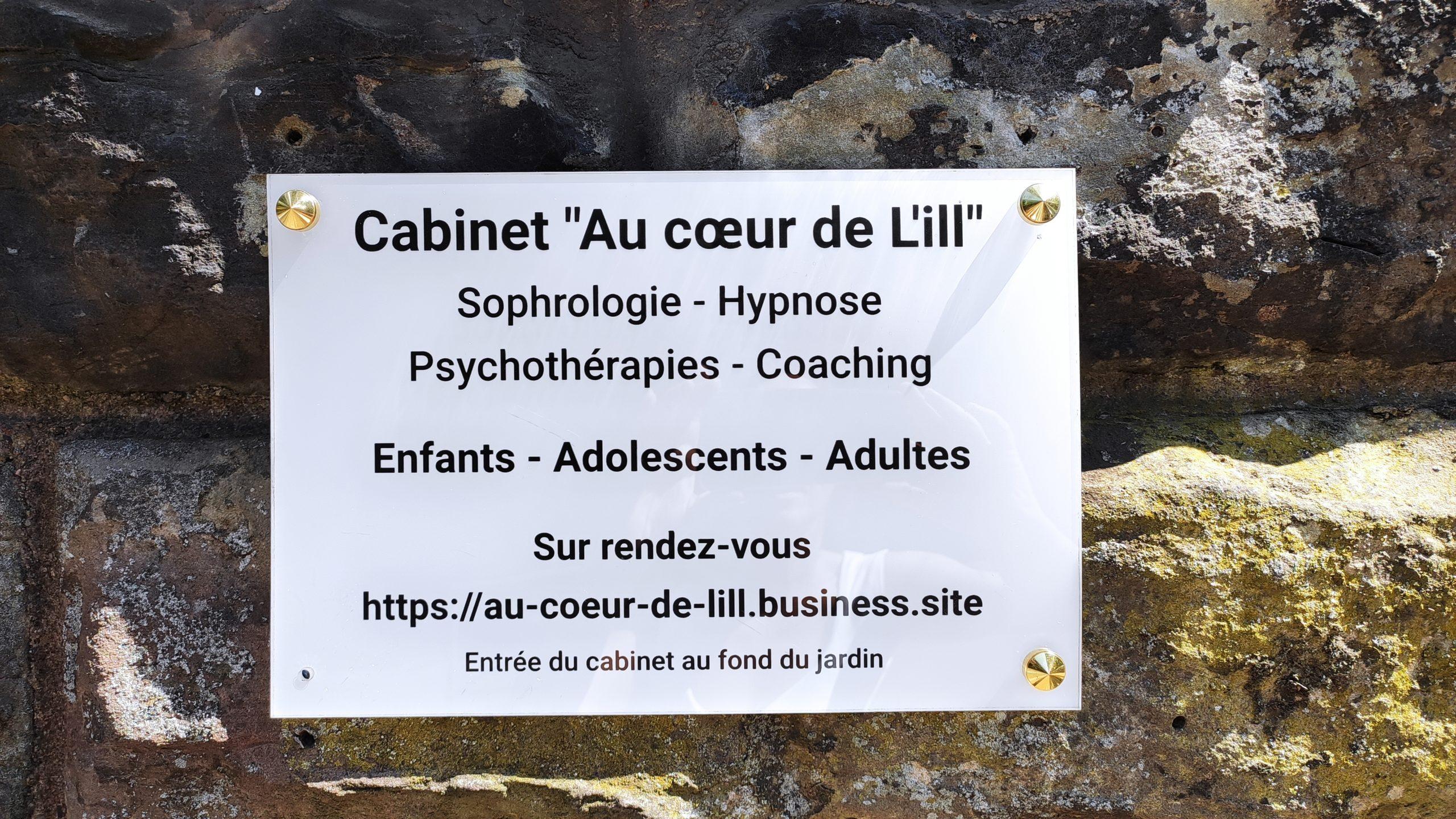 """Cabinet """"au cœur de l'ill"""" Strasbourg Alsace Grand-Est Christelle Schnitzler sophrologue coach thérapeute"""