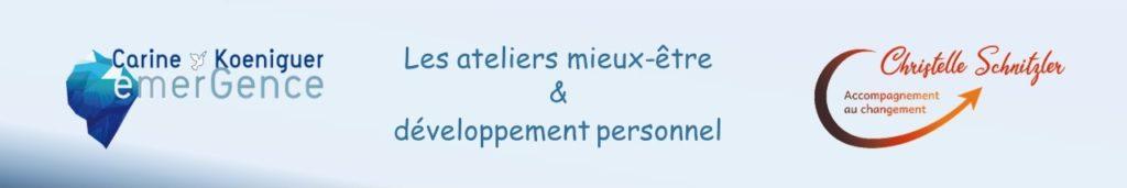 Christelle Schnitzler Sophrologue coach, Carine Koeniguer Hypnothérapeute Ateliers Strasbourg Alsace